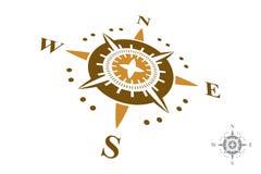 Logo della bussola isolato su fondo bianco Fotografie Stock Libere da Diritti