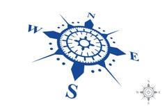 Logo della bussola isolato su fondo bianco Immagine Stock