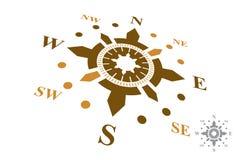Logo della bussola isolato su fondo bianco Immagini Stock Libere da Diritti