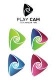 Logo della camma del gioco Fotografia Stock
