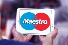 Logo della carta di debito dei maestri Fotografia Stock Libera da Diritti