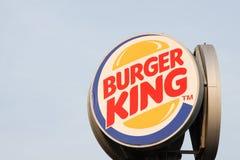 Logo della catena Burger King degli alimenti a rapida preparazione Immagine Stock Libera da Diritti