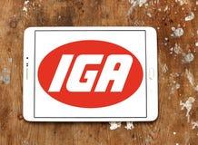 Logo della catena di supermercati di IGA Fotografie Stock Libere da Diritti