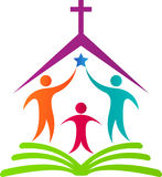 Logo della chiesa Fotografia Stock Libera da Diritti