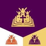 Logo della chiesa Simboli cristiani Chiesa di Dio, fedele al logo di Lord Jesus ChristChurch Simboli cristiani Chiesa di Dio, fai Illustrazione Vettoriale