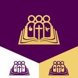 Logo della chiesa Simboli cristiani Chiesa di Dio, fedele al logo di Lord Jesus ChristChurch Simboli cristiani Chiesa di Dio, fai Immagini Stock