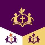 Logo della chiesa Simboli cristiani Chiesa di Dio, fedele al logo di Lord Jesus ChristChurch Simboli cristiani Chiesa di Dio, fai Fotografia Stock