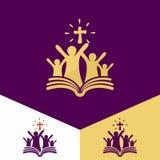 Logo della chiesa Simboli cristiani Chiesa di Dio, fedele al logo di Lord Jesus ChristChurch Simboli cristiani Chiesa di Dio, fai Fotografia Stock Libera da Diritti