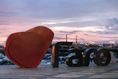 Logo della città di Faro Immagini Stock Libere da Diritti