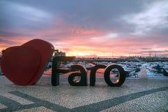 Logo della città di Faro Fotografia Stock Libera da Diritti