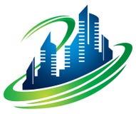 Logo della città della costruzione Fotografia Stock