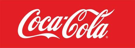 Logo della coca-cola Fotografia Stock