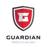 Logo della compagnia di sicurezza pronto per l'uso illustrazione di stock