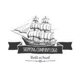 Logo della compagnia di spedizioni Immagini Stock