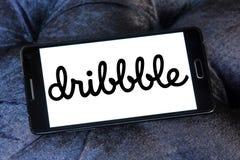 Logo della comunità in linea di Dribbble Immagine Stock