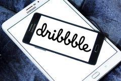 Logo della comunità in linea di Dribbble Fotografie Stock Libere da Diritti