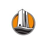 Logo della costruzione di edifici Immagini Stock Libere da Diritti