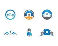 Logo della costruzione e della casa Immagini Stock