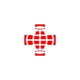 Logo della croce rossa Immagini Stock Libere da Diritti