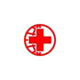 Logo della croce rossa Fotografia Stock