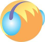 Logo della cuffia Fotografie Stock
