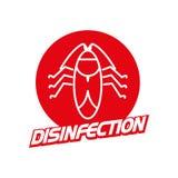Logo della ditta di disinfezione di vettore su fondo bianco Fotografia Stock Libera da Diritti