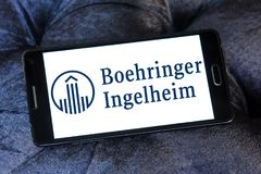 Logo della ditta farmaceutica di Boehringer Ingelheim Immagini Stock