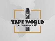 Logo della e-sigaretta di Vape Fotografia Stock