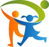 Logo della famiglia Fotografia Stock Libera da Diritti