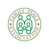 Logo della famiglia con la linea vettore Immagine Stock