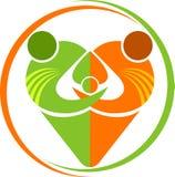 Logo della famiglia del cuore Immagine Stock