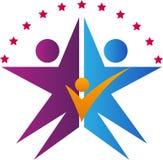 Logo della famiglia della stella Fotografia Stock Libera da Diritti