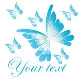 Logo della farfalla Immagine Stock Libera da Diritti