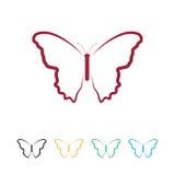 Logo della farfalla Fotografia Stock Libera da Diritti