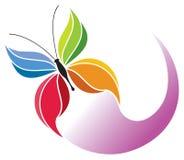 Logo della farfalla Fotografia Stock