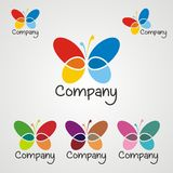 Logo 2 della farfalla Immagine Stock Libera da Diritti