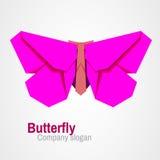 Logo della farfalla di origami Fotografie Stock
