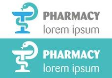 Logo della farmacia Immagini Stock Libere da Diritti