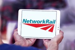 Logo della ferrovia della rete fotografie stock libere da diritti