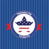 Logo della festa dell'indipendenza Immagine Stock