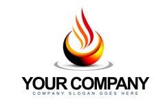 Logo della fiamma Fotografia Stock Libera da Diritti