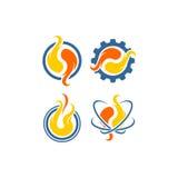 Logo della fiamma di vettore Immagine Stock