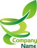 Logo della foglia illustrazione di stock