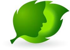 Logo della foglia del fronte Fotografie Stock