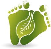 Logo della foglia del piede Fotografia Stock