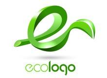 Logo della foglia di Eco Fotografie Stock