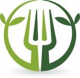 Logo della forcella della foglia Fotografie Stock Libere da Diritti