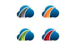 Logo della freccia della nuvola royalty illustrazione gratis