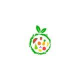 Logo della frutta Immagini Stock