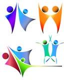 Logo della gente Immagini Stock Libere da Diritti